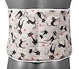 Traubenkernkissen zum Umbinden, Gürtel mit Klettverschluss, ca. 135cm, 7-Kammer Wärmekissen XXL Körnerkissen, Katze-Mimi