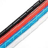 Guiping Modulteile 10 m Spiralkabel für PC, Computer, Heimkabel, 6-60 mm (Farbe: Weiß)