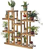 Pflanzenständerhalter aus Holz für den Innen- und Außenbereich, Garten, Balkon
