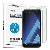 OMOTON [2 Stück] Panzerglas Schutzfolie für Samsung Galaxy A3 2017, 9H Härte, Anti-Kratzen, Anti-Öl, Anti-Bläschen,2.5D abgerundete Kanten