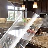 KINLO Selbstklebende Klebefolie transparent Möbel 60*500cm Möbelfolie Spritzschutz Buchschutz Folie Wandschutzfolie Wasserdicht Aufkleber Hochtemperatur-Anti-Öl-Fliesenaufkleber Fliesen Tischp