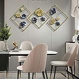 zhouxi Metall-Wandbild Wanddekoration, Wandhänger 3D Kreative Blattform Wanddeko Metallbild Wandrelief, Für Arbeitszimmer/Wohnzimmer/S