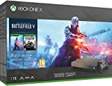 Microsoft Xbox One X, schwarz - Battlefield V Gold Rush Special Edition Bundle