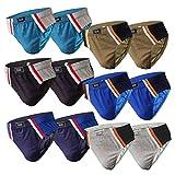 6-12 Slips Herren Unterhosen Männer Slip Unterwäsche Herrenschlüpfer Unterhose aus Baumwolle (L, 12.Stück 570), Herstellergröße 7
