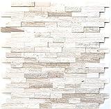 Wandverkleidung Paneel selbstklebend Marmor Naturstein grauweiß Naturstein Bruch Optik white wood für WAND BAD WC KÜCHE FLIESENSPIEGEL THEKENVERKLEIDUNG BADEWANNENVERKLEIDUNG Mosaikmatte Mosaikp