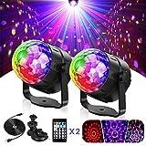 Icnow LED-Lichter, drehbar, 15 Farben, Mini-Lichter, Stroboskop, mit Fernbedienung, USB-Beleuchtung, Palco mit Saugnapf, für Auto, Geburtstag, Weihnachten, Hochzeit, Party