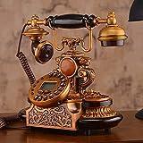 TAIDENG Dekorative Telefon Ornamente Geschenk für Wohnkultur Massivholz, europäischer Stil, Telefon [Retro], Heimgebrauch, [Erstellung], Wired -d Home Schreibtisch Dekor Ornament