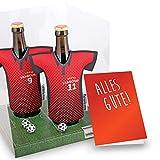 vereins-Trikot-kühler Away für Eintracht Frankfurt Fans | 2er Geschenk-Box-Edition| 2X Trikots | Fußball Fanartikel Jersey Bierkühler by Ligakakao