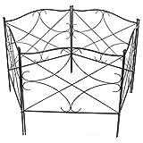 lyrlody- Gartenzaun, 5 Stück Metall Zaun Komplettset Zaun Dekorative Zaun Zaunelementen Rankhilfe Rankgitter Beetzaun für Dekoration, 61 x 61.5 cm