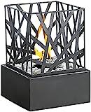 Carlo Milano Dekofeuer Garten: Tisch-Dekofeuer Feng Shui mit Steingarten (Deko Feuerstelle)