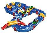 AquaPlay - MegaBridge - Wasserbahnset mit 3 Spielstationen und 49 Teilen, inklusive Bo der Bär, Amphibienauto und Transportboot mit 2 Containern, für Kinder ab 3 Jahren
