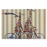 1000 Teile Puzzles für Erwachsene aus Holz, große und kleine bunte Giraffe, für Schal, Reiten, Tandem-Fahrrad, lustiges, beliebtes Geschenk, um das Interesse anzuregen.