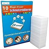Schmutzradierer wand magic eraser schmutzradierer schwamm 10 Radierschwamm ,2X Plus Stärke reinigung einfach mit wasser,Entfernen problemlos hartnäckigen Schmutz und Fleck