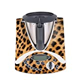 WANDKINGS Aufkleber Skin Sticker für Thermomix TM31, Leopardenfell