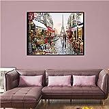 LLXXD Abstrakte Leinwand Malerei Straße im Regen Poster und Drucke Malerei Wandkunst Bilder für zu Hause Wohnzimmer Dekoration-50x70cm (kein Rahmen)