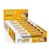 Dextro Energy Tasty Bar Peanut-Caramel   12x45g Proteinriegel mit zartschmelzender Cremefüllung   Leckerer Eiweißriegel mit 30% Protein ohne Zuckerzusatz