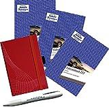 AVERY Zweckform 223 Fahrtenbuch 3 Stück'Notizio Limited Set' inkl. Notizbuch und Kugelschreib