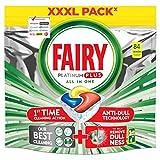 Fairy Platinum PLUS - Spülmaschinentabs All-In-One 84 Kapseln Zitrone, Lemon Geschirrspültabs, Geschirrspülmittel Tabs in Sparpack