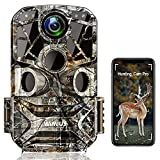 WiMiUS Wildkamera WLAN 24MP 1296P WiFi Wildkamera mit Bewegungsmelder Nachtsicht, 120° Weitwinkel IP66 Wasserdicht Wildtierkamera, Überwachungskamera für Jagd und Heimsicherheit