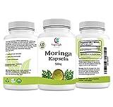 Moringa Kapseln   120 Kapseln   1000mg pro portion   Hergestellt aus organischem Moringa-Pulver & Gemüsekapseln