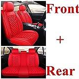 JYPZSH Sitzbezüge Auto Set Autositzbezüge für Lexus Gs300 Gs350 Hs250H Gx400 Gx460 Gx470 Lx570 Lx470 Ist Ls Ct Rx Es Gs Gx Lx Nx Autozubehör-Rot Standard