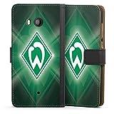 DeinDesign Klapphülle kompatibel mit HTC U11 Handyhülle aus Leder schwarz Flip Case SV Werder Bremen Offizielles Lizenzprodukt Wappen