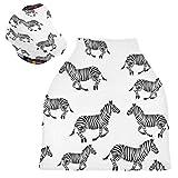 Baby-Sitz-Überdachung zum Stillen – Chaotische Galoppierung Zebras Stillschal atmungsaktiv Baby Mädchen Kinderwagen Abdeckung Baby Dusche Geschenke für Mädchen Jungen