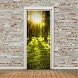 WXSSLN 3D selbstklebend TürPoster Wald Aurora Abnehmbare Türtapete Türposter innentür 3D Fototapete Tapete Wandaufkleber Wandbild Tapete DIY Büro Wohnkultur