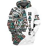 MY.BESTB Summer Native Indian Men Hoodies Große Langarm-Outdoor-Sport-Sweatshirts