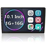Camecho Android Autoradio/GPS-Navigations-Radio, 2 DIN, 25,4 cm (10 Zoll) Touchscreen, Bluetooth, WiFi, FM-Empfänger, Handy-Spiegel-Link mit Dual-USB + Rückfahrkamera