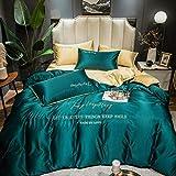 Bedding-LZ Bettwäsche 200x200cm,Sommer ist EIN Set von Eisseide vierteilige Lanyard-Bettwäsche-C_1,5m Bett (4 Stück)