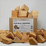 Landree® Kirsche BBQ-Grillholz 3,5KG - Wood Chunks Natural-Fire -(saubere) Alternative zu Kohle oder Briketts