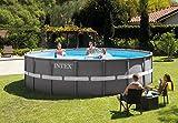Intex Ultra Rondo Frame Pool Set, 19156 liters, Grau, Durchmesser 488 x 122