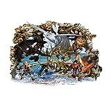 Interpaw Drachenzähmen leicht gemacht 2020 Cartoon Smashed Wandaufkleber für Schlafzimmer Jungen und Mädchen Wandbild Aufkleber Größe: Groß 80 cm X 53 cm