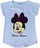 Minnie Mouse Wendepailletten T-Shirt für Mädchen Gr 98 104 110 116 128 Glitzer Pailletten Minni Maus hellgrau (98)