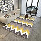 Mint Teppich Salon Teppich Gelbe Farbe Verdrahtung Gestreifter rollender Teppich Wasserwäsche Gelb Teppich aussenbereich 60X90CM Teppich nach Mass 1ft 11.6''X2ft 11.4''