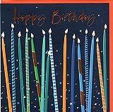 Belly Button Designs Glückwunschkarte zum Geburtstag mit Prägung, farbiger Folie und passendem Briefumschlag BE259