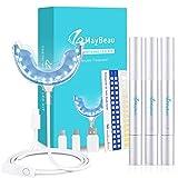 Teeth Whitening Kit Von MayBeau Zahnaufhellung Set mit Hochwertig 24X LED Licht 3 Zahnaufhellung Stifte Zahnbleaching Gel für Weiß Zähne Zahnweiß Zahnreinigung zu Hause