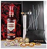 Geschenk Southern Comfort Whiskeylikör + Portionierer + Edelschokolade + Whisky Fudge