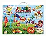 folia 50915/1 - Jumbo Bastelkoffer mit 107 Teilen, riesige Auswahl an Bastelmaterialien für Kinder und Erwachsene