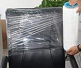 BOMEI PACK Stretchfolie Palettenfolie mit Drehbarer Hülse, Handfolie Wickelfolie, 18my x 380mm x 450m, Packfolie Transparent, 1 Rolle