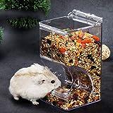 Lumon Automatischer Haustier Futterspender, Kleintier Futterspender Wasser Spender, Haustiere Katzen Hunde Automatisch Wäserer für Hamster Vogel Papageien