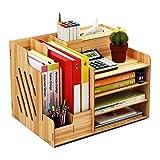 Schreibtisch-Organizer aus Holz, großes Fassungsvermögen, Aufbewahrungsbox für Bürobedarf Kirsche