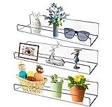 Wandmontiertes Acryl-Wandregal, 38,1 cm, durchsichtiges Regal, unsichtbares Kinder-Bücherregal, 5 mm dick, Badezimmer-Aufbewahrungsregale, Spielzeug-Organizer, 3er-Set