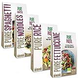 PurePasta Bio - Konjakpasta - Spaghetti, Nudeln, Reis, Fettuccine - Paket mit 10 (Mix)