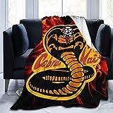 Yaxinduobao Cobra Kai Winterbettdecke Fleece Ultraweiche leichte extra warme Winterdecke für Schlafsofa, Klimaanlage für besseren Schlaf, leichte Klimaanlage Decke 60 'x 50
