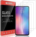 MASCHERI 3 Stück Schutzfolie kompatibel mit Xiaomi Mi 9 Xiaomi Schutzfolie Fingerabdruck ID unterstützen Blasenfrei Xiaomi 9 Display