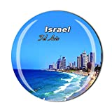 Tel Aviv Israel Kühlschrankmagnet, Reise-Souvenir, Geschenk, Heimküche, Dekoration, Magnetaufkleber, Kristall, Kühlschrankmagnet, Kollektion