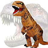 JASHKE Trex Kostüm Aufblasbare Kostüme Tyrannosaurus Rex Anzug Dinosaurier Kostüm Erwachsene Karneval Party Dino Kostüm Männer F