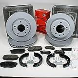 Autoparts-Online Set 60014778 Zimmermann Bremsscheiben Coat Z Bremsen Bremsbeläge vorne hinten Handbremse Zubehör für hinten